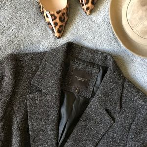 The Limited Collection Brown Tweed Crop Blazer